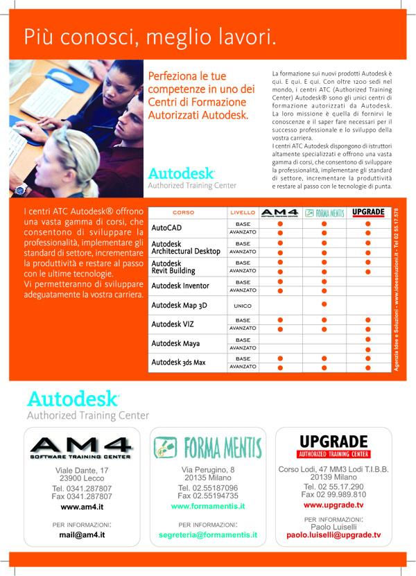 2006-06-10 UPGRADE Brochure promozione corsi Autodesk retro