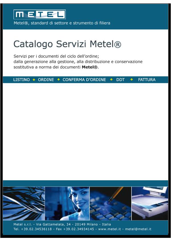 Progetto grafico catalogo servizi Metel - Anno 2007 - copertina