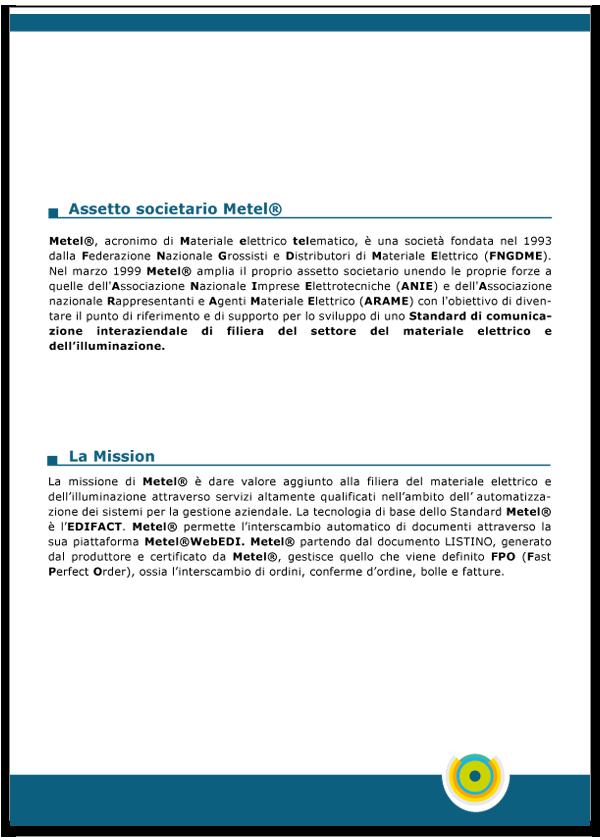 Progetto grafico catalogo servizi Metel - Anno 2007 - pagina 03