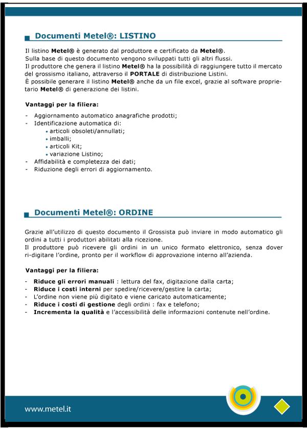 Progetto grafico catalogo servizi Metel - Anno 2007 - pagina 04