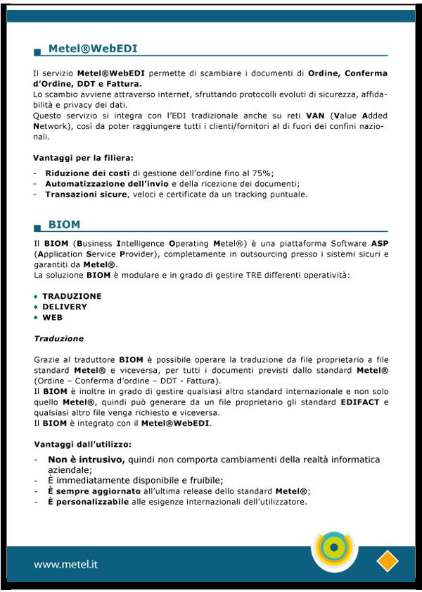 Progetto grafico catalogo servizi Metel - Anno 2007 - pagina 06
