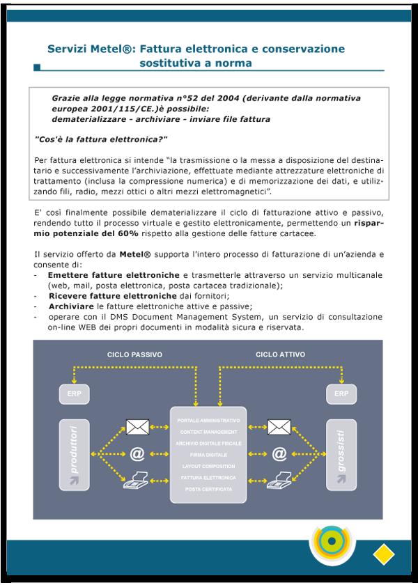 Progetto grafico catalogo servizi Metel - Anno 2007 - pagina 09