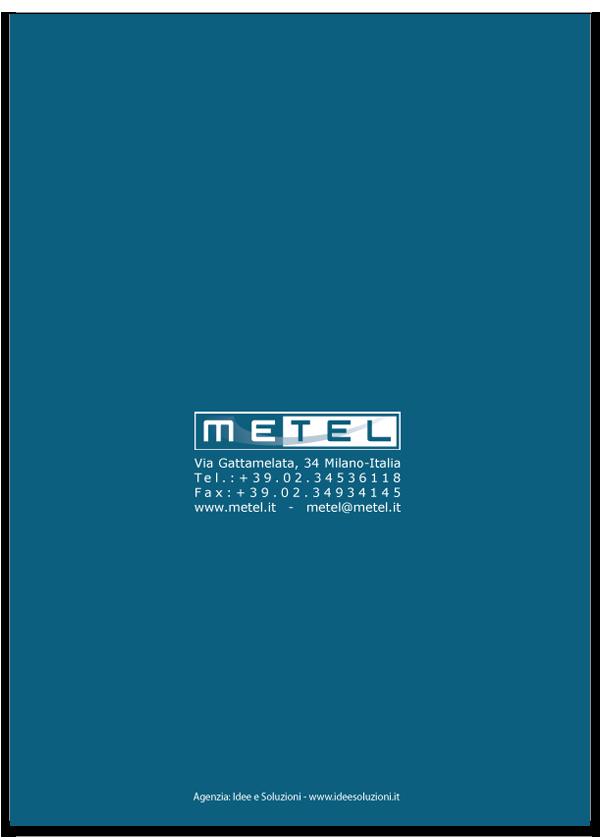 Progetto grafico catalogo servizi Metel - Anno 2007 - Retro di copertina