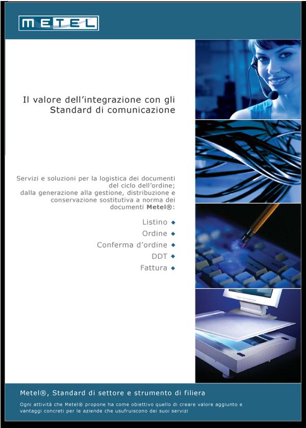 Progetto grafico Brochure Metel Istituzionale - Pagina 01