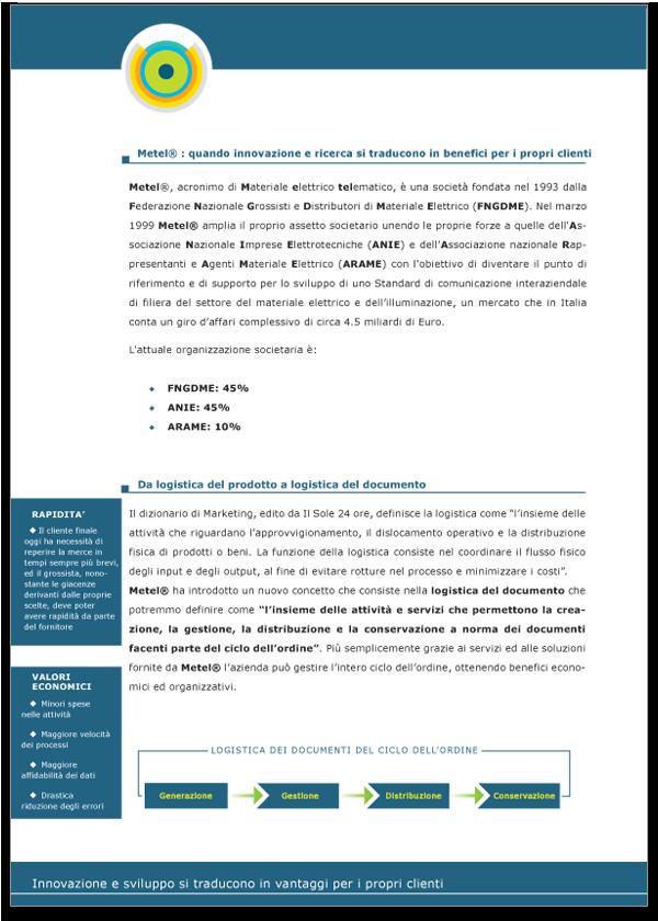 Progetto grafico Brochure Metel Istituzionale - Pagina 02