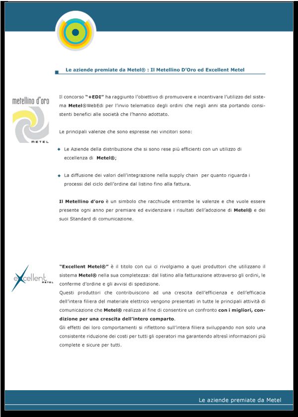 Progetto grafico Brochure Metel Istituzionale - Pagina 07