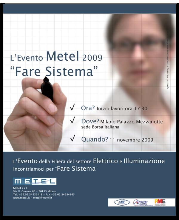 Progetto Grafico pagina pubblicitaria Metel per Commercio Elettrico