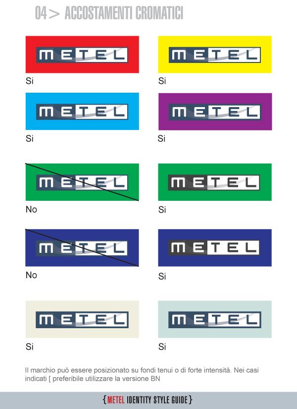 Metel Identity Style Guide - Accostamenti cromatici