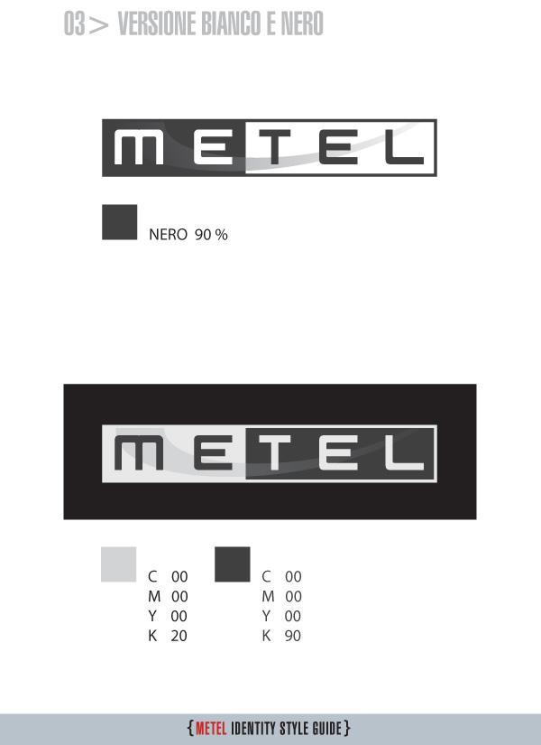 Metel Identity Style Guide - Logotipo bianco e nero
