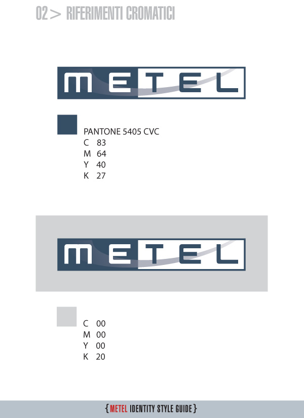 Metel Identity Style Guide - Riferimenti cromatici