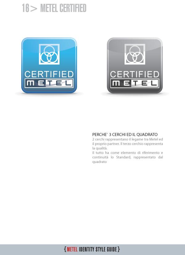 Metel Identity Style Guide - logotipo metel certified