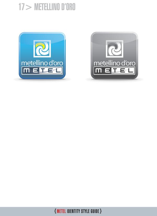 Metel Identity Style Guide - logotipo metellino d'oro