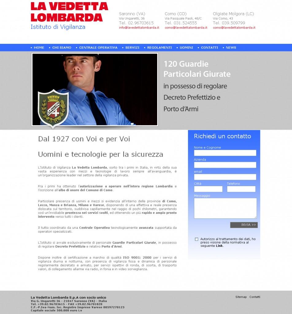 """Immagine relativa l'Home page del nuovo sito realizzato per """"La Vedetta Lombarda"""""""