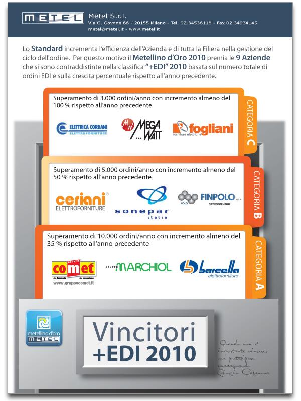 Pagina pubblicitaria Metel vincitori +edi 2010