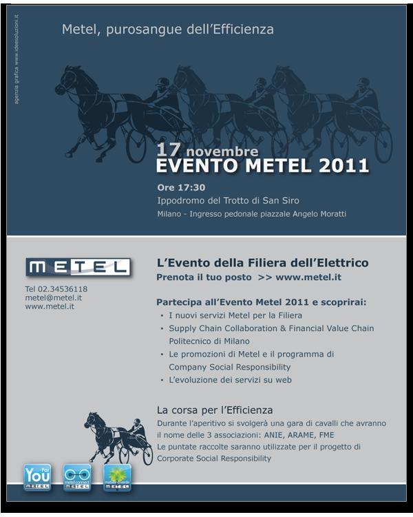 Progetto grafico Pagina pubblicitaria Evento Metel_2011