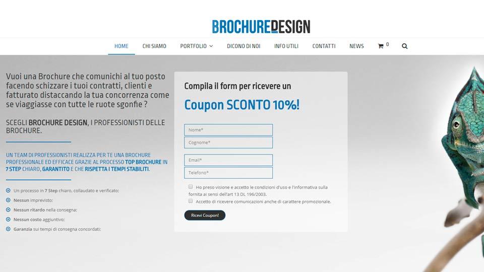 Idee e Soluzioni ha realizzato il Sito Web per Brochure Desing