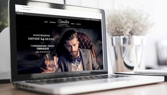 Idee e Soluzioni realizza il nuovo sito gintoneria Tumbler Speakeasy
