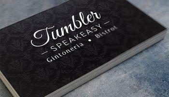 Idee E Soluzioni Ha Realizzato Il Logotipo Del Tumbler Speakeasy, La Gintoneria Più Grande D'Italia