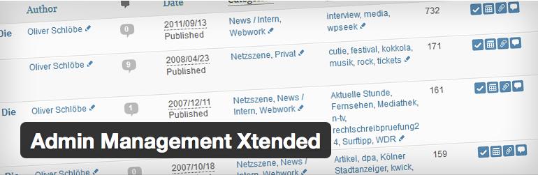 Scopri come gestire meglio WordPress grazie alla plugin Admin Management Xtended