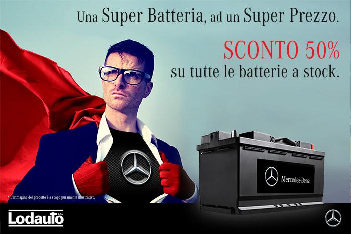 Creativita-Campagna-pubblicitaria-vendita batterie Lodauto-Mercedes-Benz