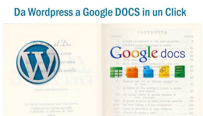 Da Google Docs A WordPress In Un Click