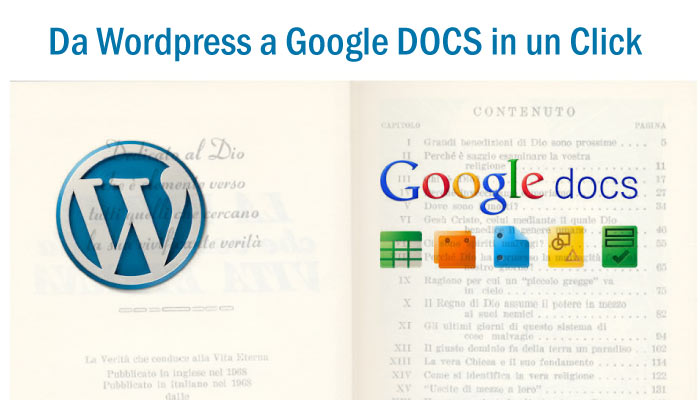 Da Google Docs a WordPress in un click