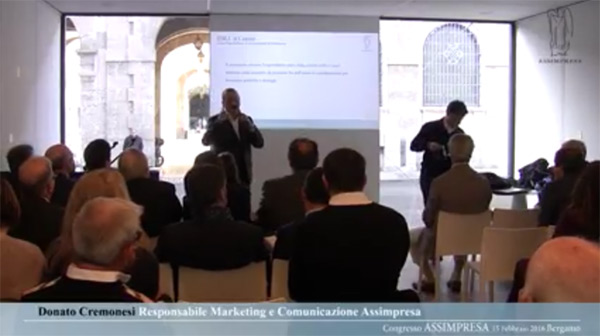 Donato Cremonesi Relatore Al Congresso Nazionale Assimpresa