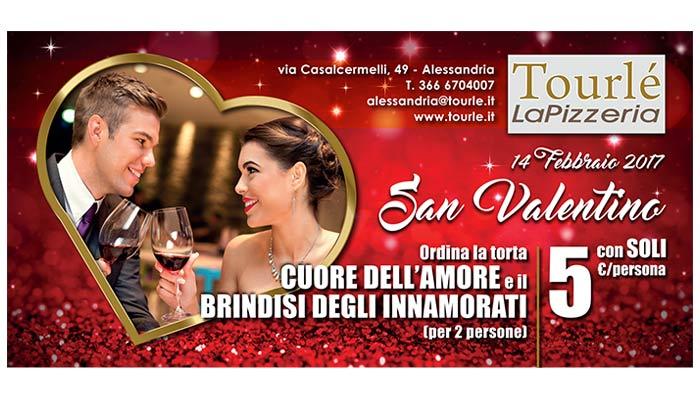 Grafica Flyer San Valentino 2017 Per Tourle La Pizzeria