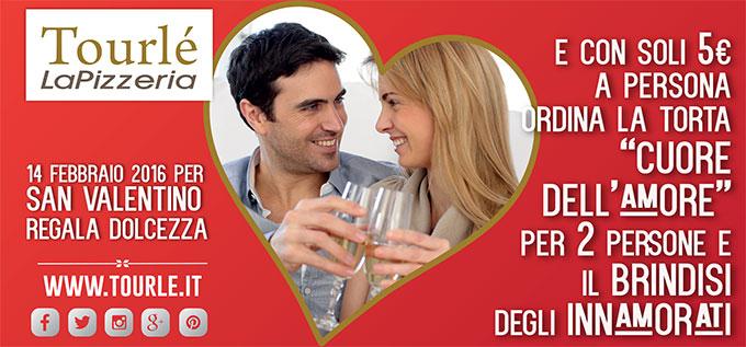 Idee E Soluzioni Ha Realizzato Il Flyer San Valentino Per Tourle La Pizzeria