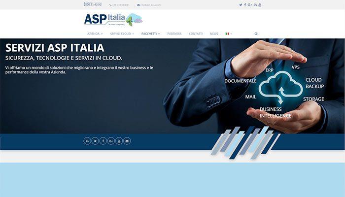 Idee E Soluzioni Ha Realizzato Il Nuovo Sito Internet Della Società ASP-Italia