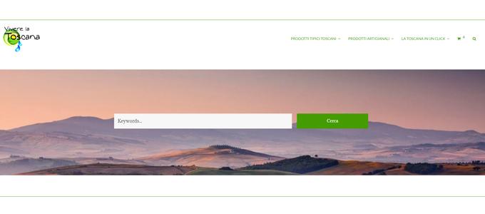 Idee e Soluzioni ha realizzato il portale di ecommerce di Vivere la Toscana
