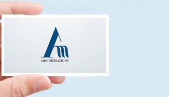 Il Nuovo Logotipo Per Amministrazione SRL La Società Che Ha Lanciato Sul Mercato Il Servizio Di Consulenza On Demand