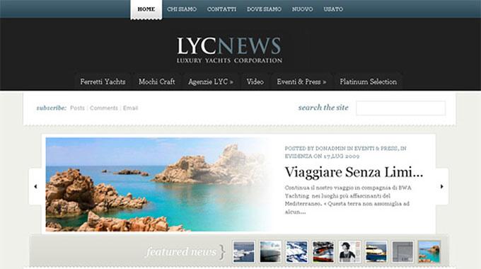 E' Online Il Nuovo Sito Di LYC Luxury Yachts Corporation