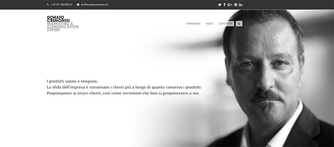Idee E Soluzioni Realizza Il Nuovo Sito Per Il Proprio CEO Donato Cremonesi