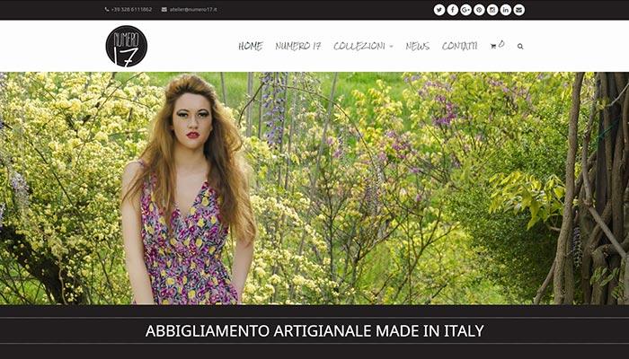 Idee e Soluzioni realizza il sito e-commerce per Atelier Numero 17