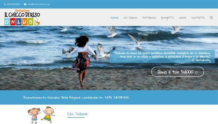 Idee E Soluzioni Ha Realizzato Il Nuovo Sito Internet Della Fondazione Il Chicco Di Riso Onlus