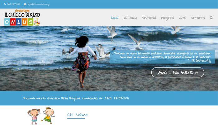 Idee E Soluzioni Ha Realizzato Il Sito Web Della Fondazione Il Chicco Di Riso Onlus