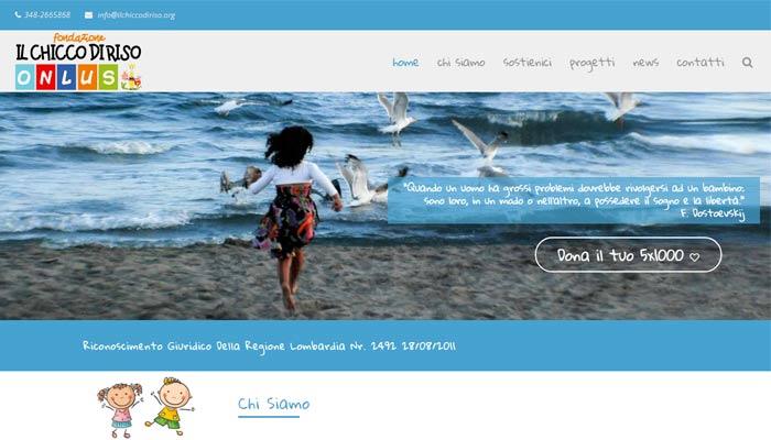 Idee E Soluzioni Ha Realizzato Il Nuovo Sito Web Della Fondazione Il Chicco Di Riso Onlus