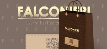 Progetto Grafico Shopper Per Falconieri L'Arte Pasticciera Dal 1989