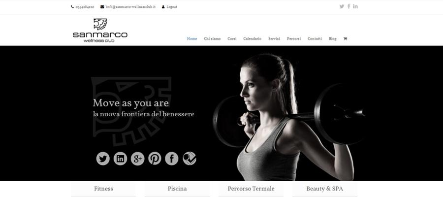 Realizzazione Sito Per Palestra San Marco Wellness ICLUB
