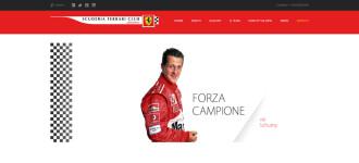 Sito Internet Settore Driving Per La Scuderia Ferrari Club Di Saronno
