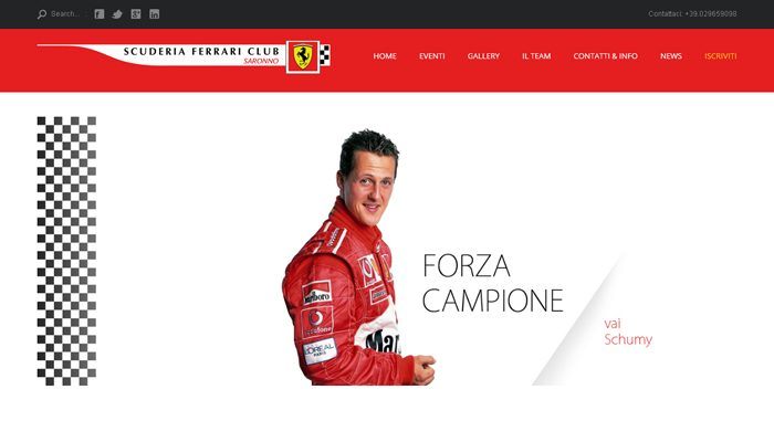 Idee E Soluzioni Realizza Sito Scuderia Ferrari Club Saronno
