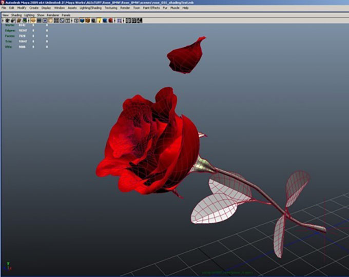 Modelli 3D Pubblicità Mercedes Con Le Rose 04