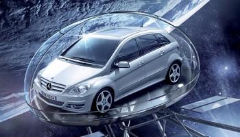 Modello 3D Satellite Per Campagna Pubblicitaria Mercedes