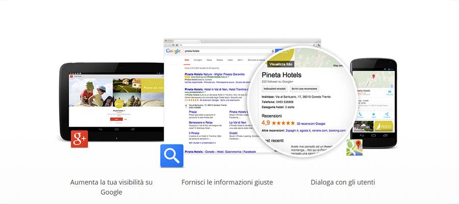 Pagina Di Benvenuto Servizio Google My Business