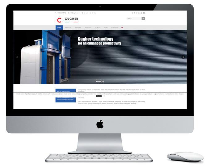 Presentazione Siti Internet Cugher Glass Layout Home Page Sito Www.cugheroven.com