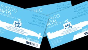 Progetto Grafico Biglietto Invito Visita Sottomarino Toti