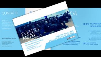 Progetto Grafico Brochure Invito Evento Metel 2013