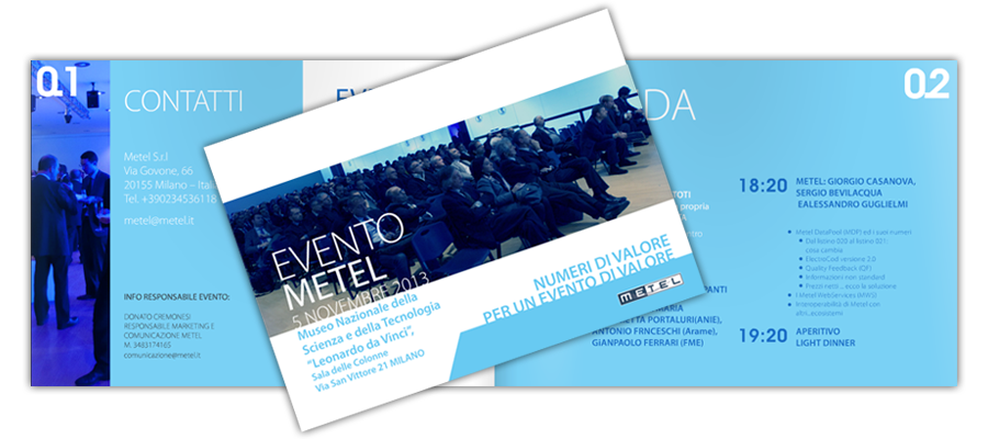 Progetto Grafico Brochure Evento Metel 2013