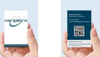 Progetto Grafico Biglietto Da Visita Global Insurance Car